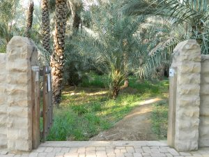 These gates led to the oasis beyond the stone path