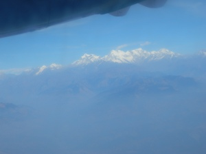 We could see the Annapurna Himalayas from the plane!!