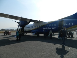 Our airplane from Kathmandu to Pokhara