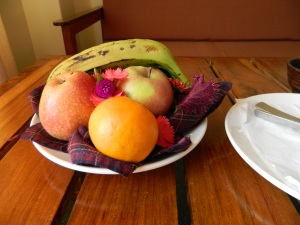We even got a plate of fruit upon our arrival!