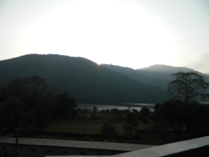 View of the lake from our room