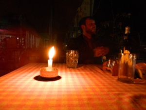 There was of course another power outage - but that only meant a romantic candlelight dinner!