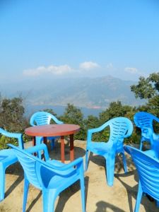 When we were almost to the top we found this great little cafe to get some chai and soak in the view