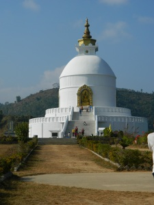 The Peace Pagoda at the top - it was so beautiful