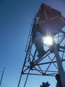 Scott was brave enough to climb