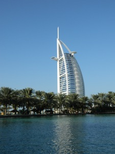 We got a great view of the Burj Al Arab from the abra