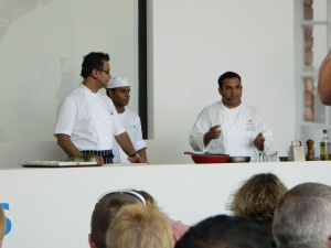 On of the cooking demonstrations