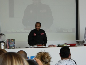 We then saw a demonstration by the UK Food Network's Reza Mohammed