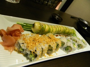 Sushi - can you tell which one is the caterpillar roll??!