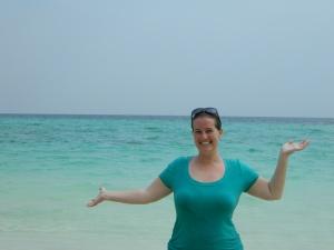 The first beautiful beach on Bamboo Island