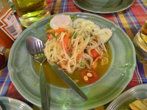 The best dish in Thailand - Papaya Salad!! We had it everywhere and almost every day!