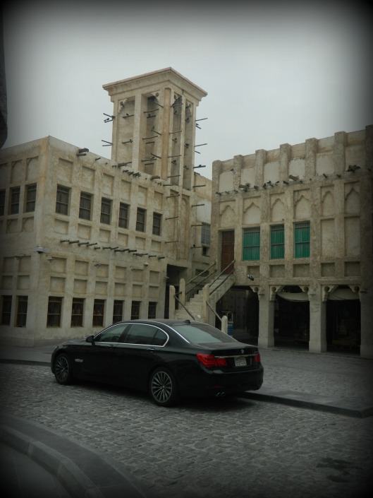 Love the new car against the old souq