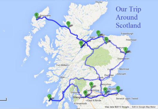 Scotland – Travel Map Of Scotland