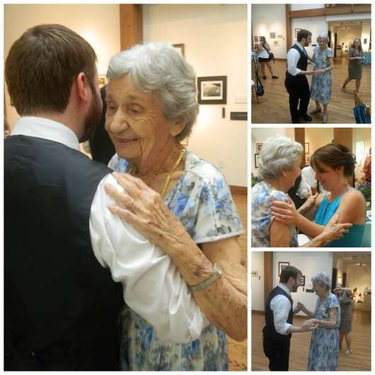 Dancing with Grandma this past July at Heidi and Brett's Wedding