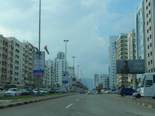 Driving through Fujairah on our way home